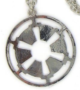 Star Wars Galactic Empire Imperial Logo metal pendant, prop replica